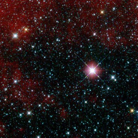 Imagen de un telescopio infrarrojo