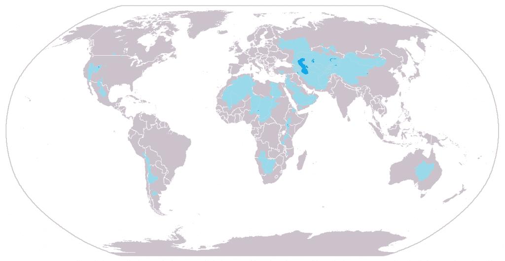 Principales cuencas endorreicas del planeta