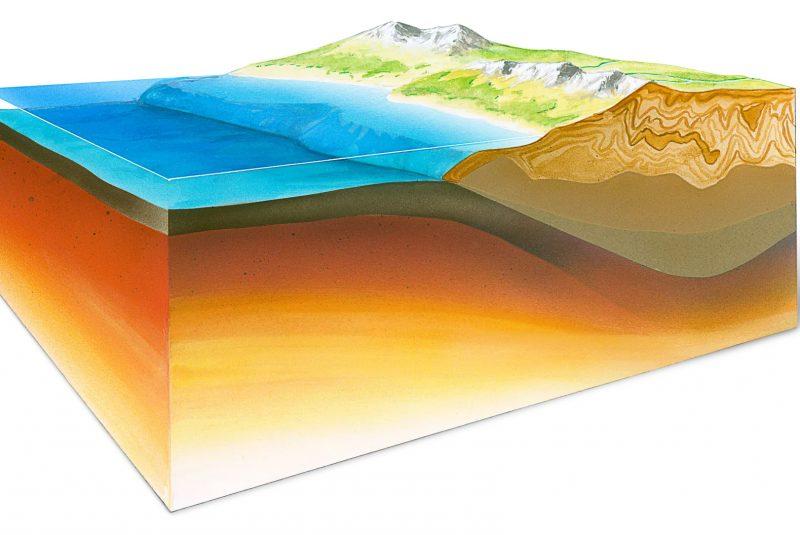 Corteza oceánica y continental